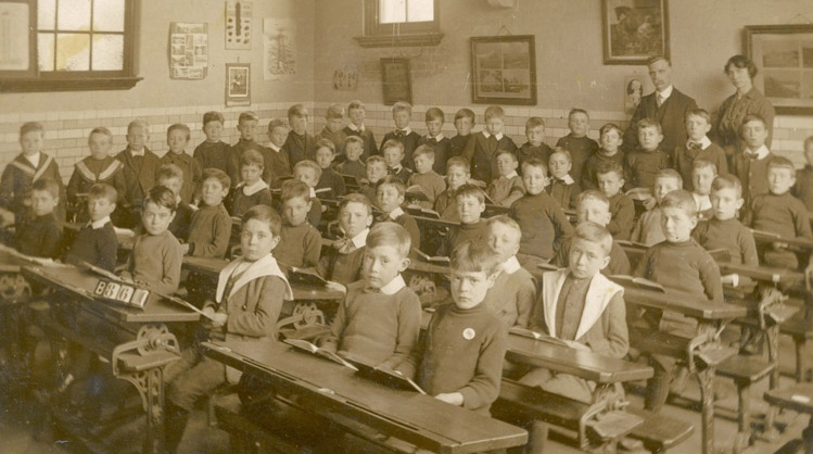 unidentified boys'school Date: circa 1905 Source: postcard