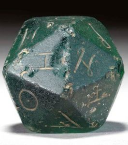 Christie's auction for a Roman 20-sided die