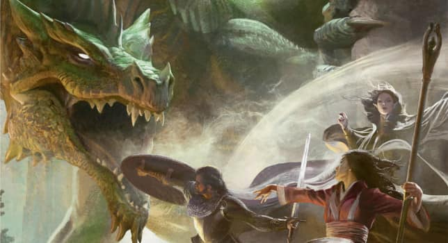 Artwork from the cover of the D&D Starter Set