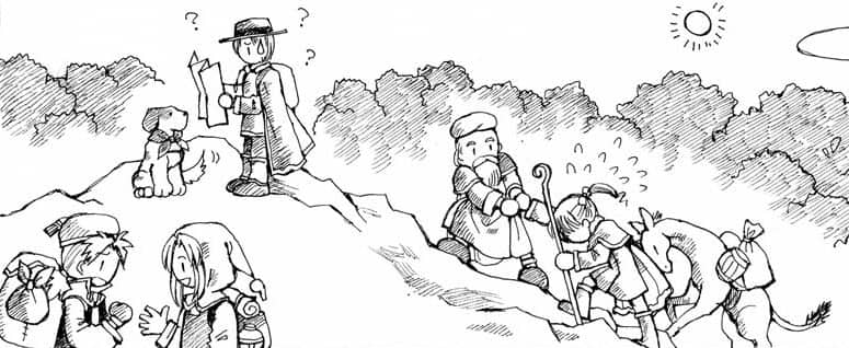 Artwork from recently translated Japanese RPG Ryuutama