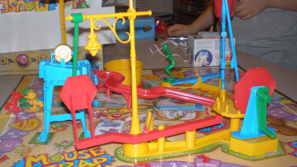 The eternally disappointing Mouse Trap (image credit to BGG's Guantanamo)