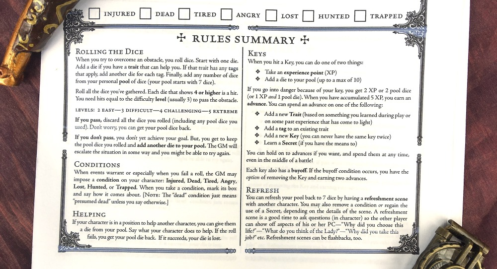 RPG Review: Lady Blackbird - Shut Up & Sit Down